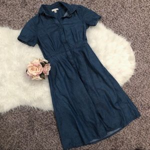 Size 2 chambray j. Crew dress